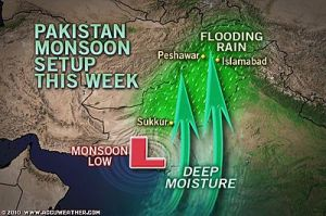 Flood waters rising in Pakistan