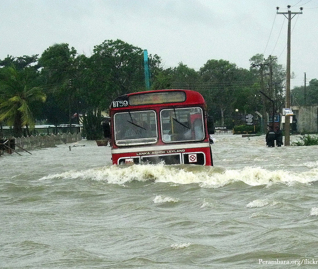 Severe floods in Sri Lanka
