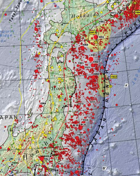 From a geological perspective, what is surprising about the Sendai Earthquake?