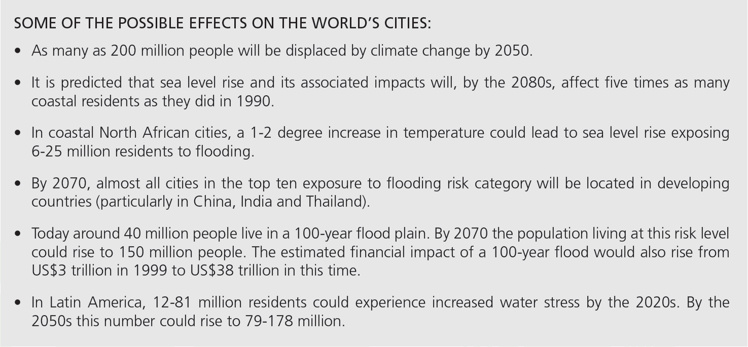 UN report on 'risky cities' and climate change