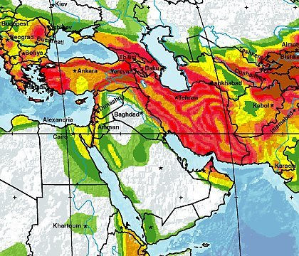 Earthquake risk model for the Middle East Institute of Hazard