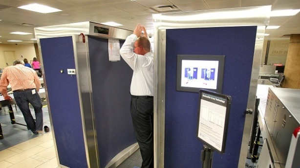 Body scanners, health risk and politics